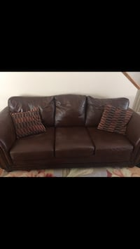Chocolate Brown Leather Living Room Set - Sofa and Love Seat Lynnwood