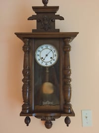 Antique Junghans wall clock in Good Running condition   31''x14'' Derwood, 20855