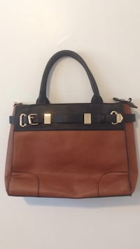 Brown and black leather tote bag .BREND .NEW Winnipeg, R2M