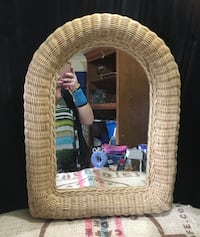 brown wicker framed mirror with mirror Barrie, L4N 5G8