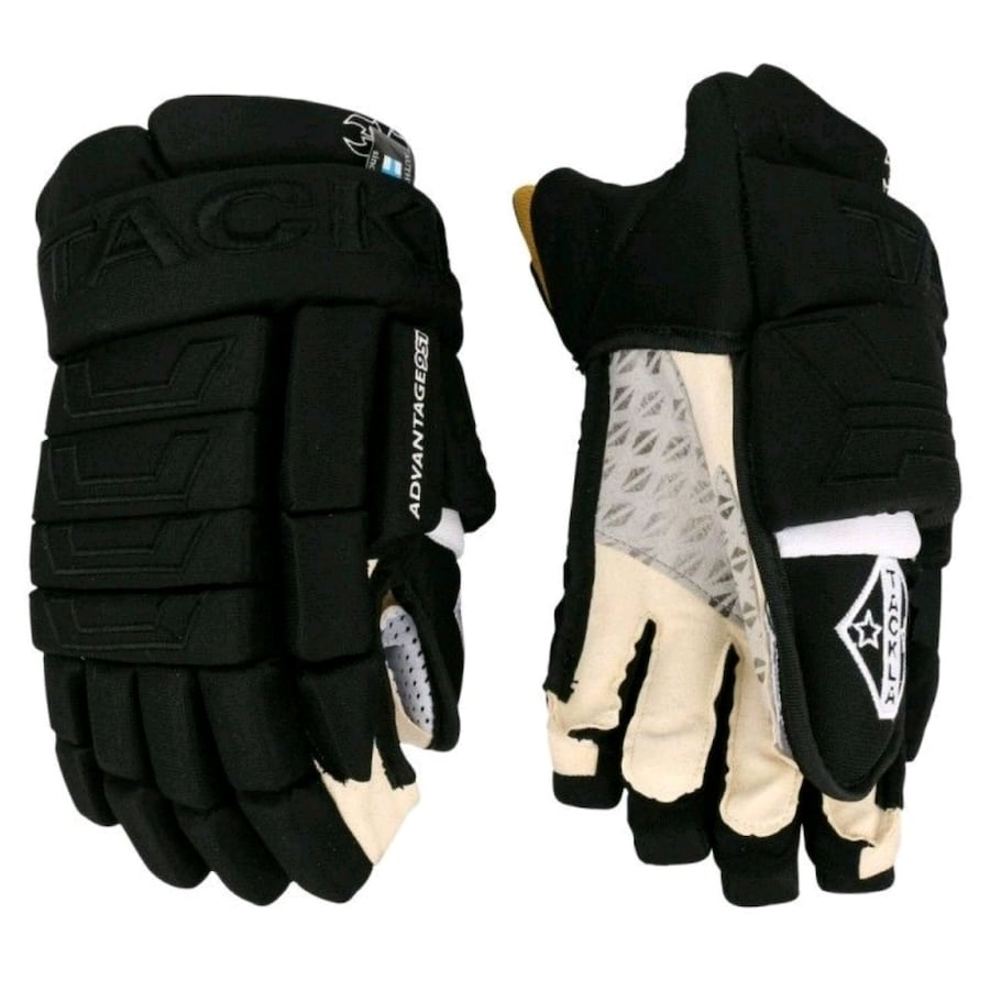 Black Tackla hockey gloves size  [TL_HIDDEN]