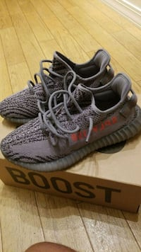 890ef572c pair of gray Adidas Yeezy Boost 350 V2 · pair of gray Adidas Yeezy Boost  350 V2. Waukegan