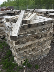 pile of wooded pallets