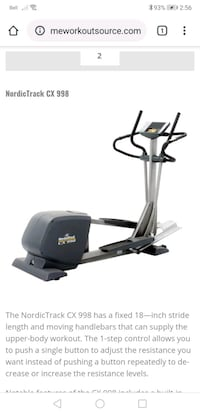 Norictrack elliptical cx 938