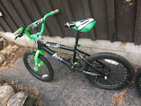 green and black BMX bike , 03826