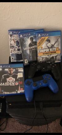 PS4 games and 2 controllers  Fort Worth, 76112