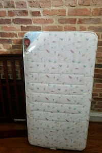white and green floral mattress Baltimore, 21217