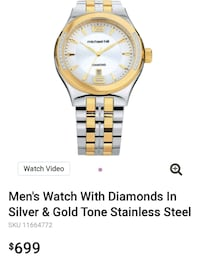 round gold-colored analog watch with link bracelet Winnipeg, R2H 1B6