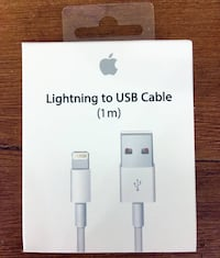 New Genuine Apple Lightning to USB Charge Cable, ipod iPhone 5/5s/6/6s Kingston, 12401