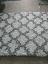 white and gray floral area rug Chicago, 60616