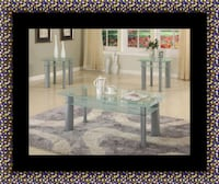 Glass white coffee table Crofton