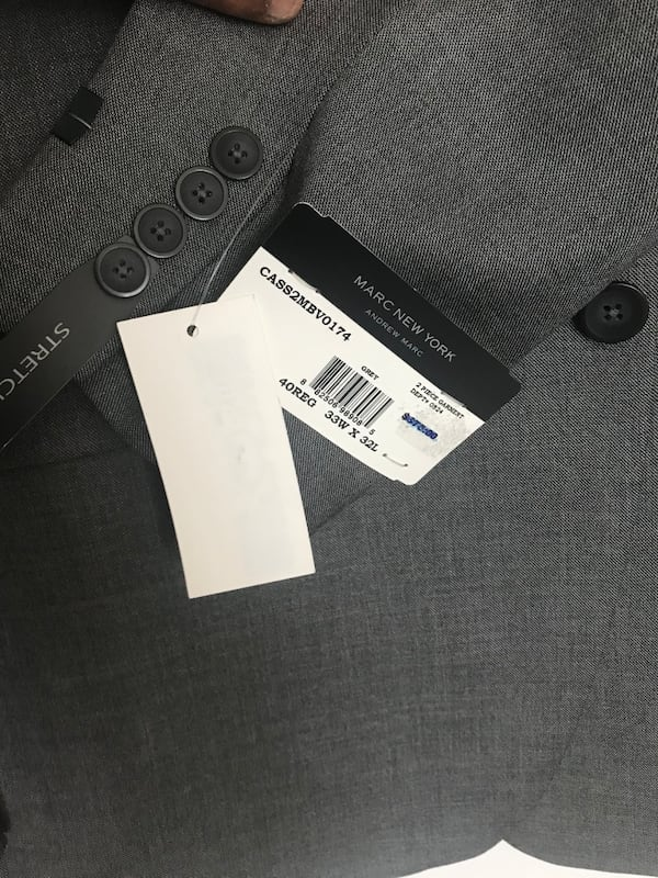 Grey and blue 40R two new suits with tags f24b472d-114c-4964-b42e-72d7dc1e3076