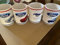 Set of 4 like new FORD MUSTANG MUGS