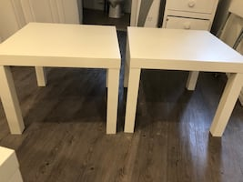 2 IKEA side tables selling for 20 bucks good condition