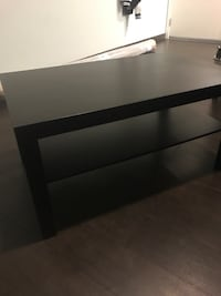 rectangular black wooden coffee table West Hollywood, 90038