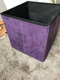 No lid collapsible storage bin - suade Edmonton, T6L 5E1