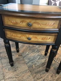 Brown and black wooden 2drawer chest Catonsville, 21228