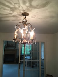 Vintage chandelier. Additional 8 inch drop. Extra crystals. Munhall, 15120