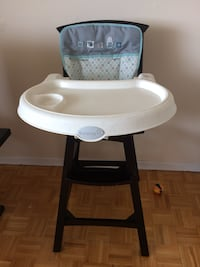 baby's white and black highchair 548 km