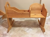 Doll cradle - solid pine