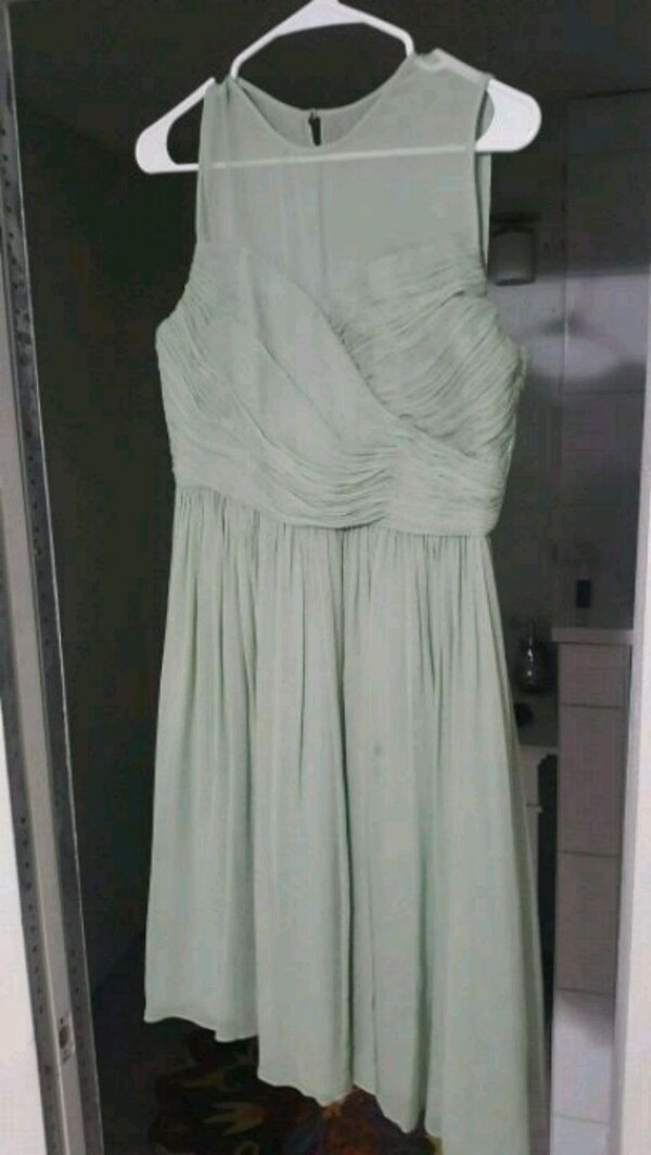 Used Sage Green Bridesmaid Wedding Dress For Sale In North Richland