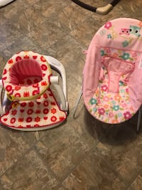 baby's white and pink bouncer Houston, 77073