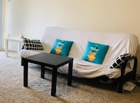 Move out sale. Futon, Bed frame, mattress, Fan, Coffee table, Mixer & iron Overland Park