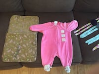 baby's pink and white footie pajama Charlotte, 28262
