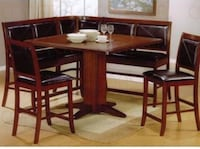Brown wooden dining table set Palm Harbor, 34685