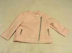 Children's Pink Faux Leather Jacket