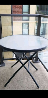 round black wooden table with two chairs Lombard, 60148