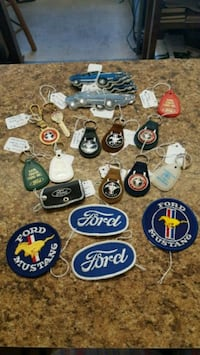 Assorted Vintage Ford Mustang Keychains and Patchs Gastonia, 28052