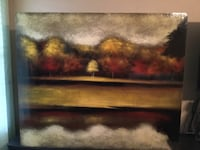 Brown wooden framed painting of brown house Ridgedale, 65739