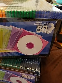 Color jewel cases for discs 50 in a pack