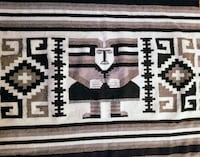 Southwest Wall Tapestry / Large Mexican Tribal Rug San Antonio
