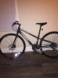 Grey hardtail mountain bike Arlington