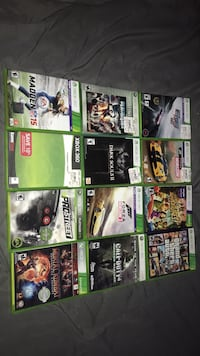 assorted Xbox 360 game cases Silver Spring, 20906