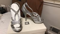 beautyful  silver with heels #  8 1/2 Mc Lean, 22101