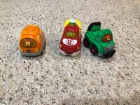 three green and yellow plastic toys Chester, 10918