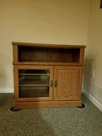 brown wooden TV stand with cabinet Philadelphia, 19135