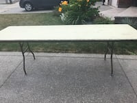 "8'x30"" wooden folding table Hamilton, L9B 2Y1"