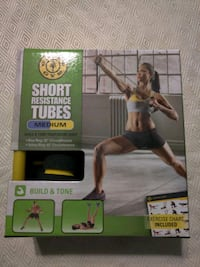 Gold's Gym Resistance tubes.