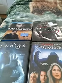 four assorted DVD movie cases Baltimore, 21224