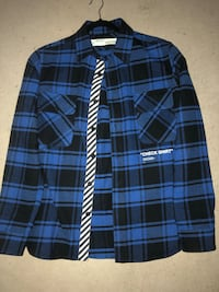 "OFF WHITE BLUE ""Check Shirt"" Montréal, H3S"