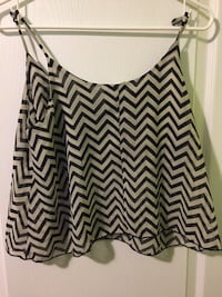 black and white chevron spaghetti strap top Markham, L3S 3C7