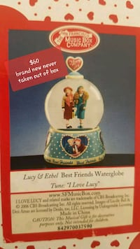 Lucy and Ethel  snowglobe brand new El Paso, 79936