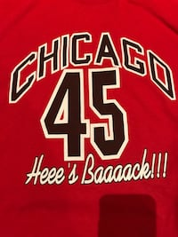 red and white Chicago Bulls 23 jersey shirt Toronto, M6A 1C8