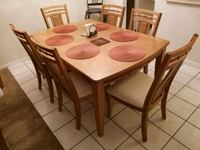 Dining Room Table w/ 6 cushioned-seat Chairs Coral Springs, 33065