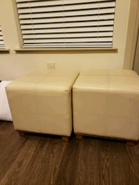 2 white ottomans  Houston, 77079