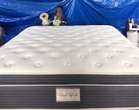 """14"""" thick luxury 1 sided pillow top mattress. Price includes tax & local delivery. Cash only.   Twin Mattress only-$199 Mattress & Box spring, or bunky-$240  Full Mattress only-$255 Mattress & Box spring, or bunky-$299  Queen Mattress only-$325 Mattress & El Segundo, 90245"""